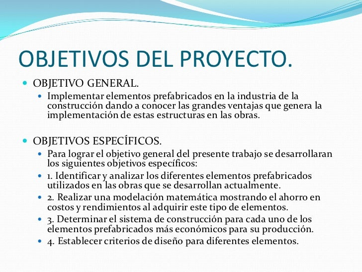Presentacion proyecto prefabricados for Oficina de proyectos de construccion