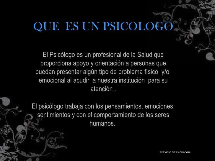 presentacion psicologia