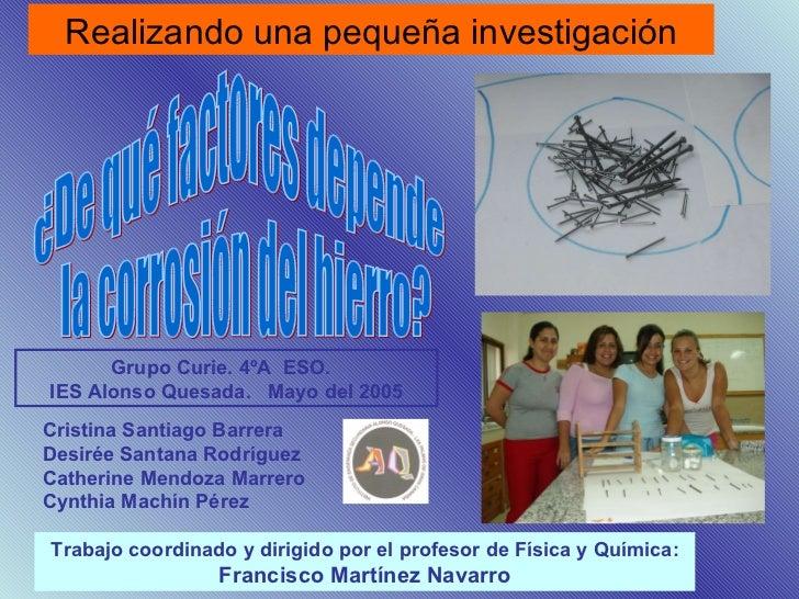 Cristina Santiago Barrera  Desirée Santana Rodríguez Catherine Mendoza Marrero  Cynthia Machín Pérez Trabajo coordinado y ...