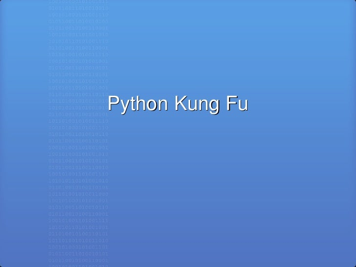 Python Kung Fu