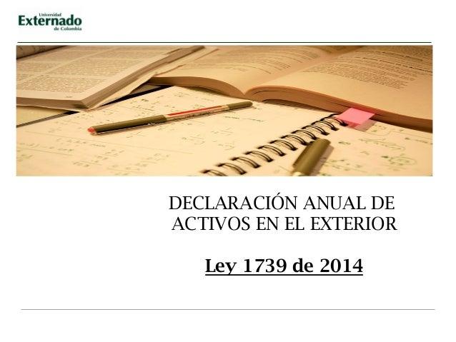 Reforma Tributaria Ley 1739 De 2015 Alcance Y Contenido