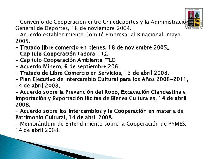 <br />Cultura y Educación:<br />A nivel educacional, las relaciones entre las Universidades de Chile y China han ido en ...