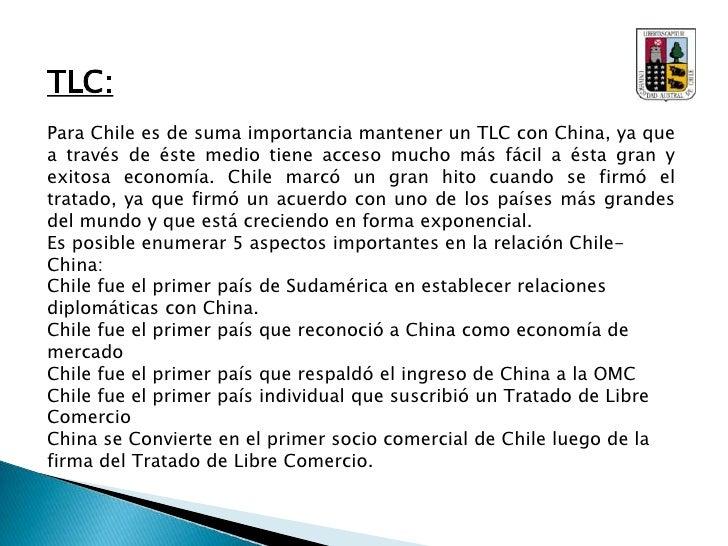 Acuerdos Importantes:<br />A continuación se nombrarán acuerdos y convenios realizados entre Chile y China.<br />- Conve...
