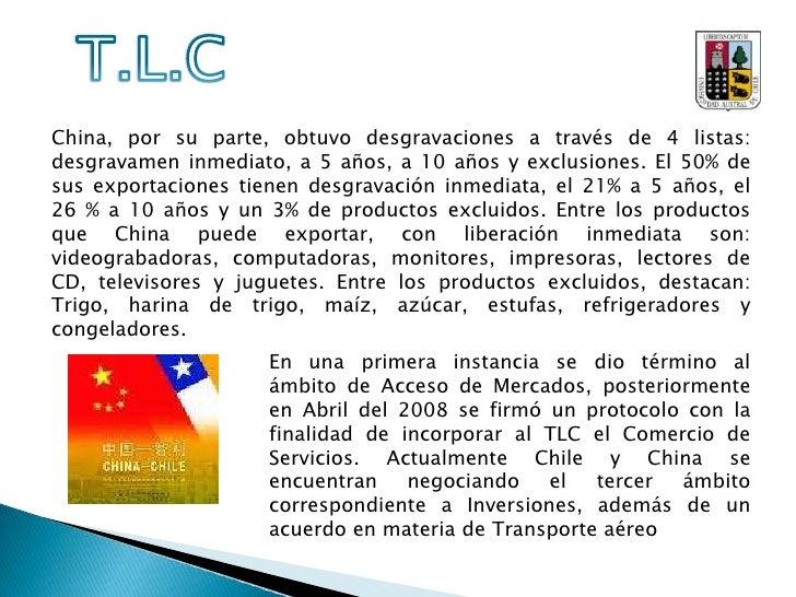 Las negociaciones para un TLC, nacieron desde China, quien en Junio del 2002 le propuso a Chile crear uno entre ambos país...