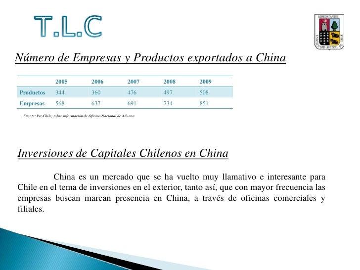 T.L.C<br />El 3º y último punto a tratar en el TLC es el tema de las Inversiones. Las negociaciones se llevaron a cabo dur...