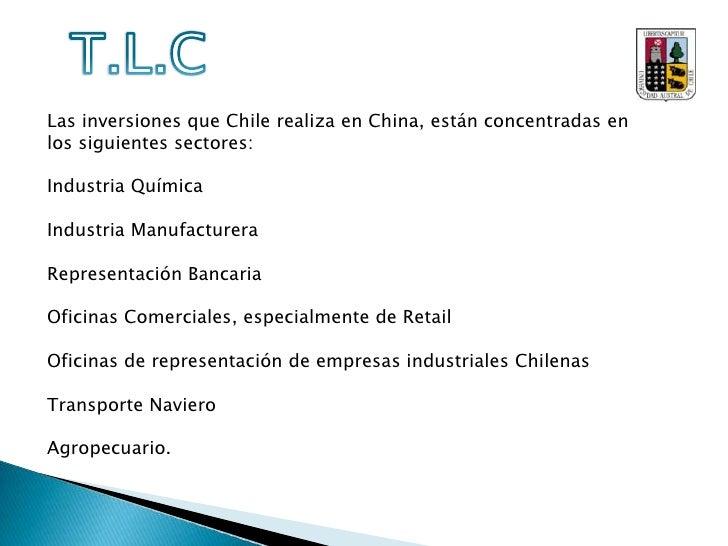 T.L.C<br />Con la entrada en vigencia del TLC, las exportaciones hacia China tuvieron un gran crecimiento, tanto así que ...