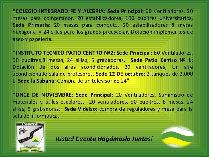 Presentacion Rendicion De Cuentas 2011 Los Patios1
