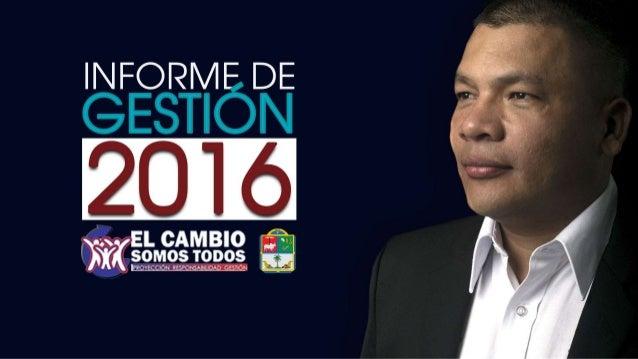 Presentación rendición de cuentas 2016 Alcaldía San Alberto CESAR