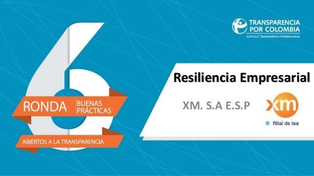 Resiliencia Empresarial XM. S.A E.S.P