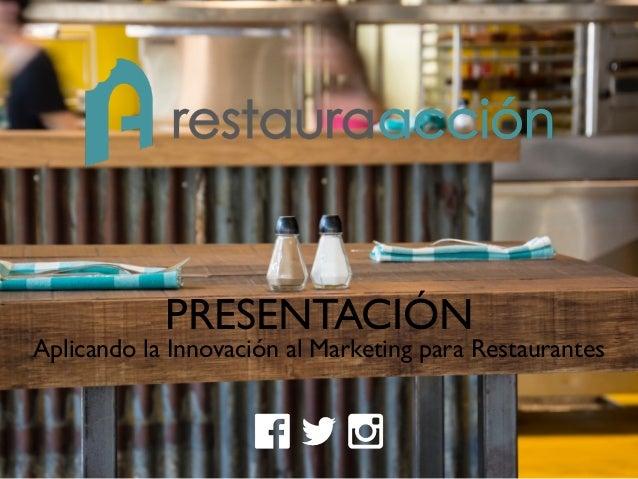 PRESENTACIÓN Aplicando la Innovación al Marketing para Restaurantes