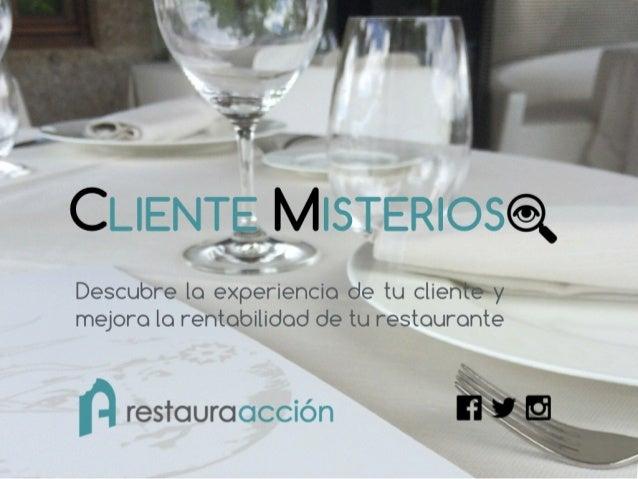 Marketing para restaurantes. Presentacion Restauraaccion v3