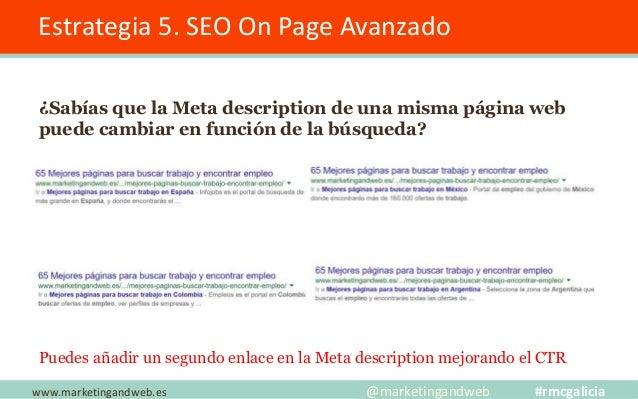 Estrategia 5. SEO On Page Avanzado Optimizar el contenido para mejorar la experiencia de usuario 2.- Añadir secciones de n...