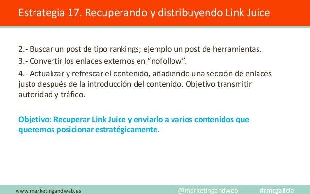 Sobreoptimización descripción Estrategia 18. Repetir la palabra clave en la descripción. www.marketingandweb.es @marketing...