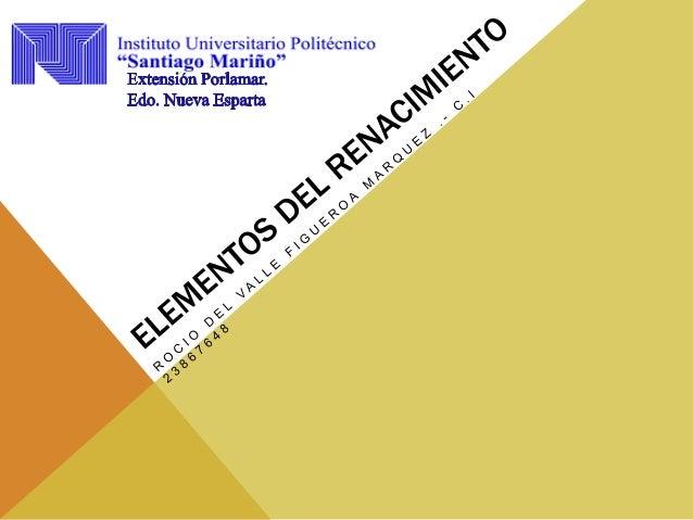 EL RENACIMIENTO Y SUS CARACTERÍSTICAS Las características del Renacimiento son: • La Vuelta a la Antigüedad resurguriran t...
