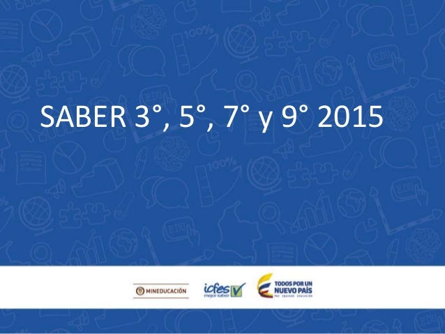 SABER 3°, 5°, 7° y 9° 2015