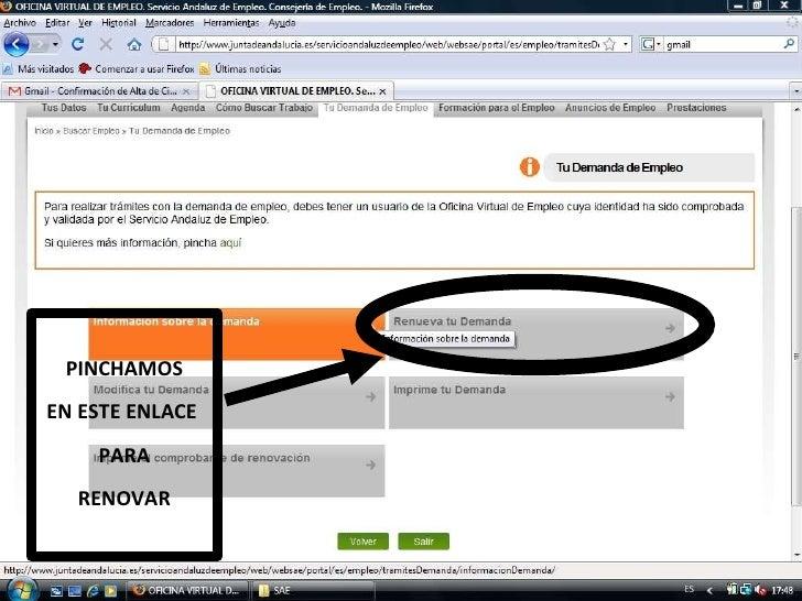 Presentacion sae 2 parte - Sae oficina virtual renovar demanda ...