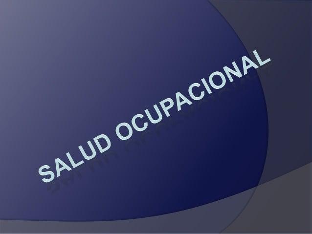 Es la ciencia encargada de proteger y mantener el bienestar de la salud física, mental, social de los trabajadores en su l...