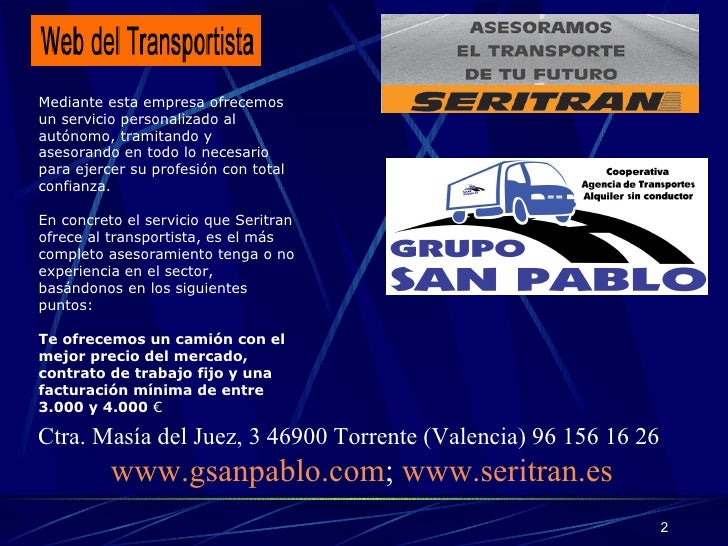 TRANSPORTISTAS AUTONOMOS EN VALENCIA Slide 3