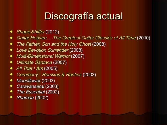 Discografía actualDiscografía actual ShapeShape ShifterShifter (2012)(2012) GuitarGuitar HeavenHeaven ...... TheThe Grea...