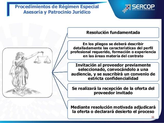 Procedimientos de Régimen Especial Asesoría y Patrocinio Jurídico Determinación de la necesidad de realizar consultas jurí...