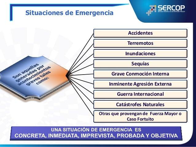 Contrataciones en Situaciones de Emergencia  48