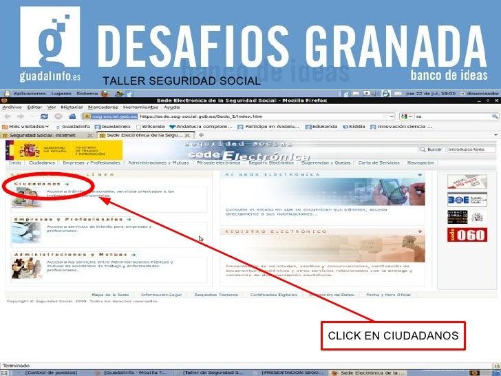 TALLER SEGURIDAD SOCIAL CLICK EN CIUDADANOS