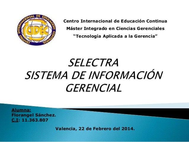 """Centro Internacional de Educación Continua Máster Integrado en Ciencias Gerenciales """"Tecnología Aplicada a la Gerencia""""  C..."""