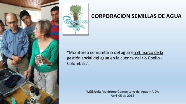 Monitoreo comunitario del agua en el marco de la gestión social del a…