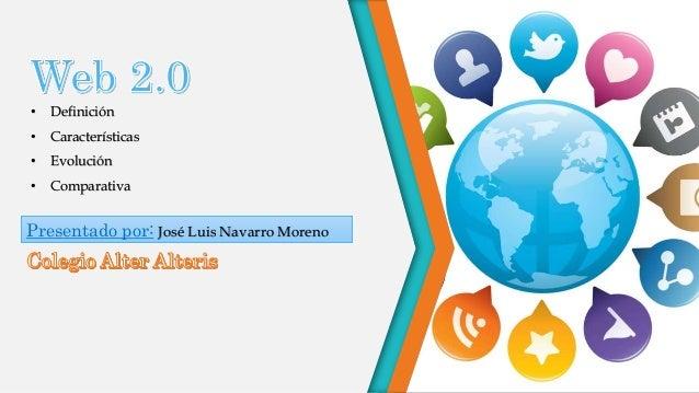 • Definición • Características • Evolución • Comparativa Presentado por: José Luis Navarro Moreno