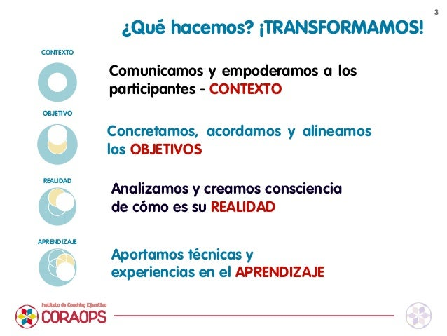 Presentacion Servicios Instituto Coaching Ejecutivo CORAOPS 2014 Slide 3