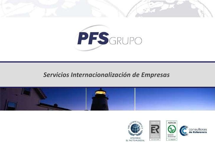 Servicios Internacionalización de Empresas