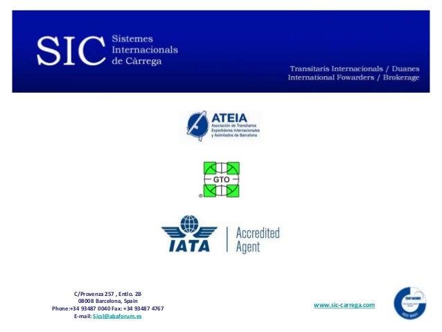 Sic Sistemes Internacionals De Càrrega