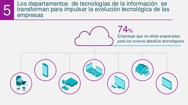 5 Los departamentos de tecnologías de la información se transforman para impulsar la evolución tecnológica de las empresas...