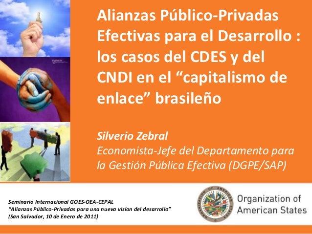 Alianzas Público-Privadas                                  Efectivas para el Desarrollo :                                 ...
