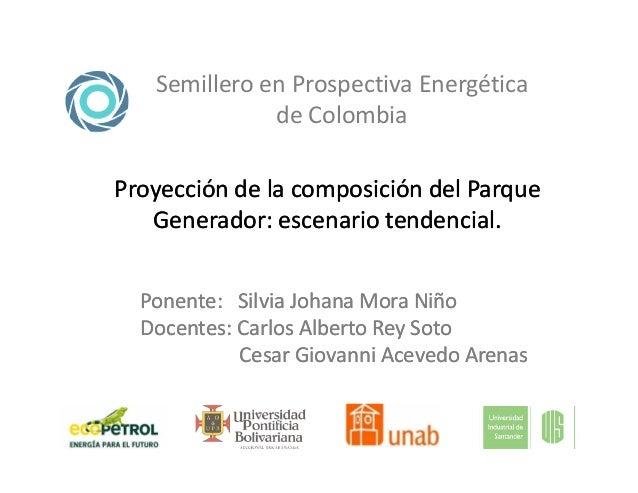 Semillero en Prospectiva Energética de Colombia Proyección de la composición del ParqueProyección de la composición del Pa...
