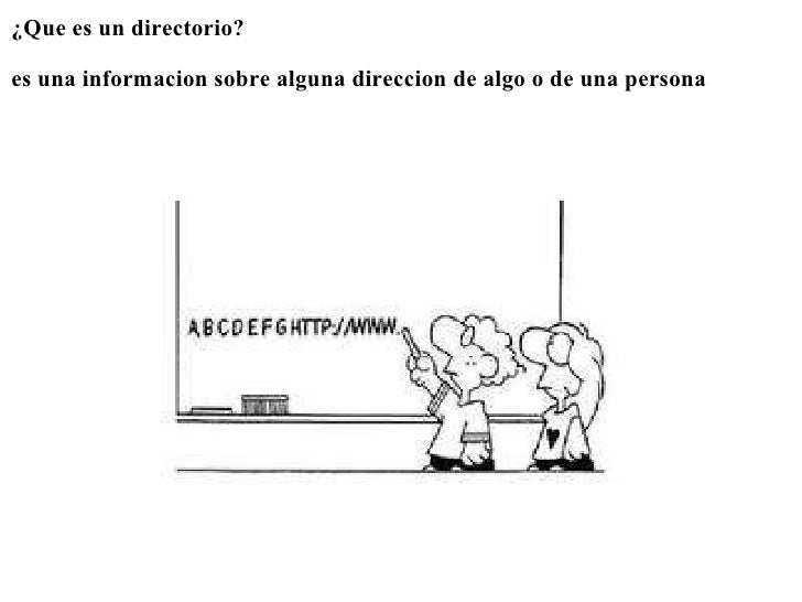 <ul><li>¿Que es un directorio? </li></ul><ul><li> </li></ul><ul><li>es una informacion sobre alguna direccion de algo o ...