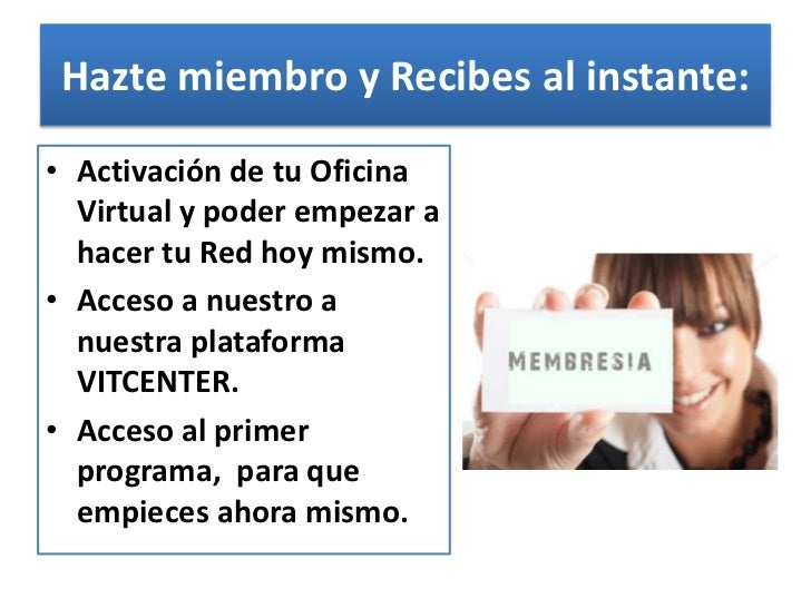 Presentacion sistema negocios vitcenter d a 2 for Oficina virtual sistema red