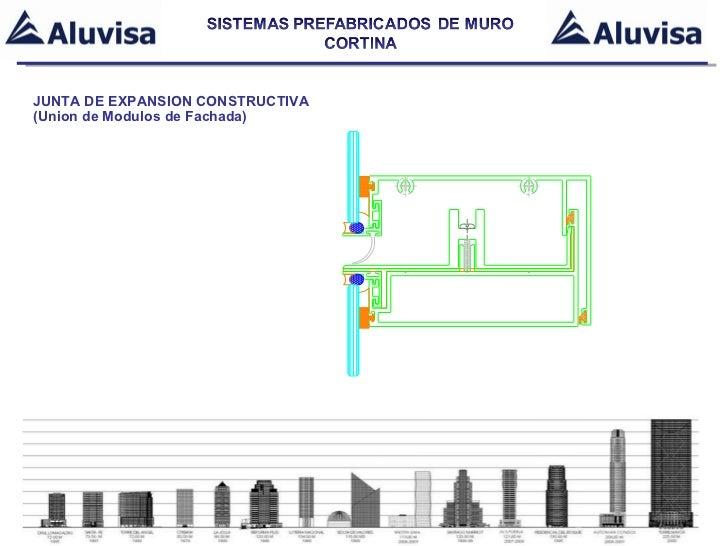 Presentacion sistemas unitizados de muro cortina 2011 for Junta constructiva