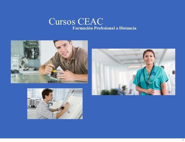 Cursos CEAC Formación Profesional a Distancia 1