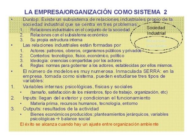 EL CONFLICTO EN LA EMPRESA (I) La empresa como un sistema tendente al equilibrio, enfrentada a situaciones de conflicto, q...
