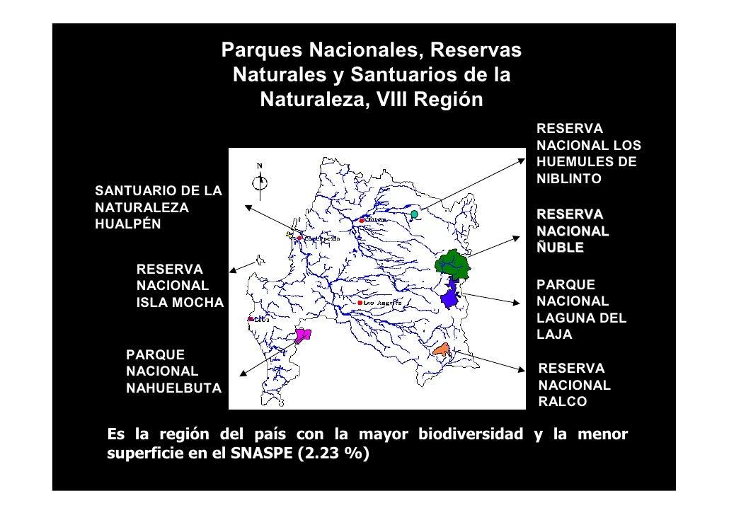 Parques Nacionales, Reservas                Naturales y Santuarios de la                  Naturaleza, VIII Región         ...