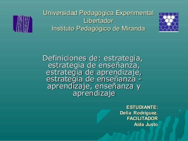 Universidad Pedagógica ExperimentalUniversidad Pedagógica Experimental LibertadorLibertador Instituto Pedagógico de Mirand...