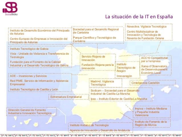 La situación de la IT en España Instituto de Desarrollo Económico del Principado de Asturias  Sociedad para el Desarrollo ...