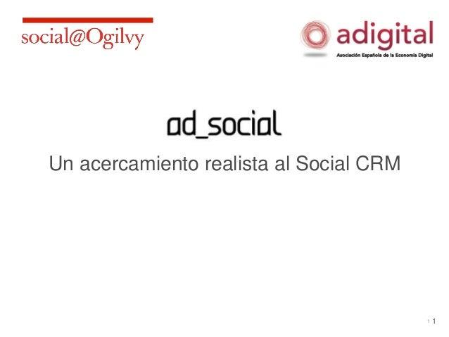 Un acercamiento realista al Social CRM                                         1   1