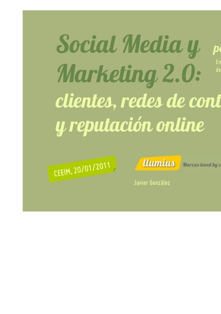Social Media y              para EIBTs                            Empresas innovadoras yMarketing 2.0:              de bas...