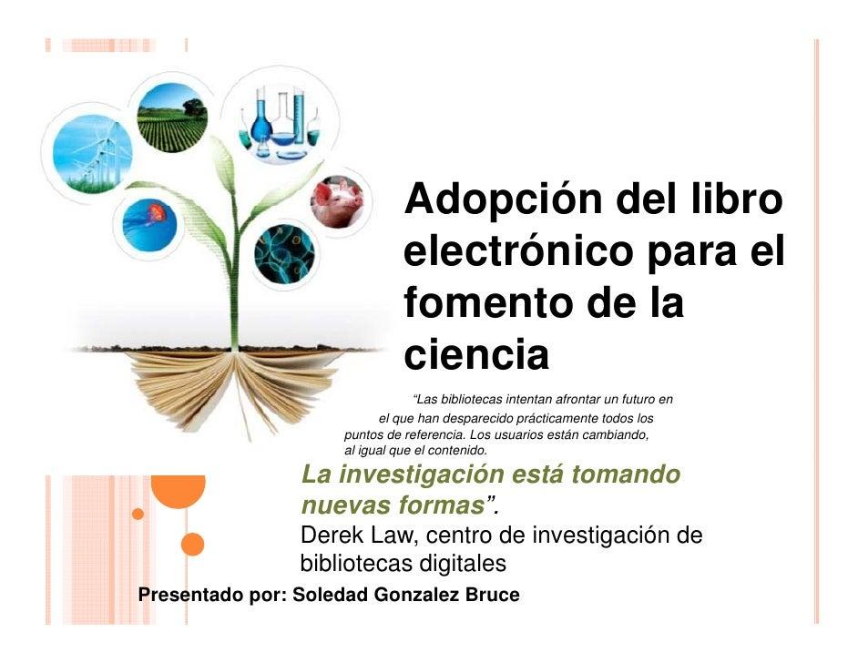 Adopción del libro                              electrónico para el                              fomento de la            ...