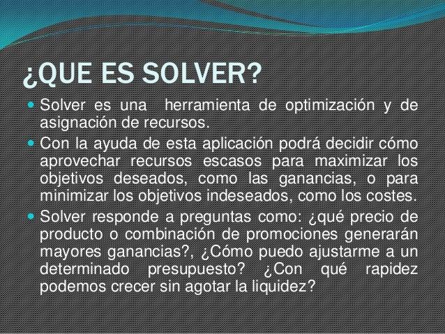Soluci N De Pl Con Excel Solver