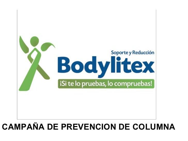 CAMPAÑA DE PREVENCION DE COLUMNA