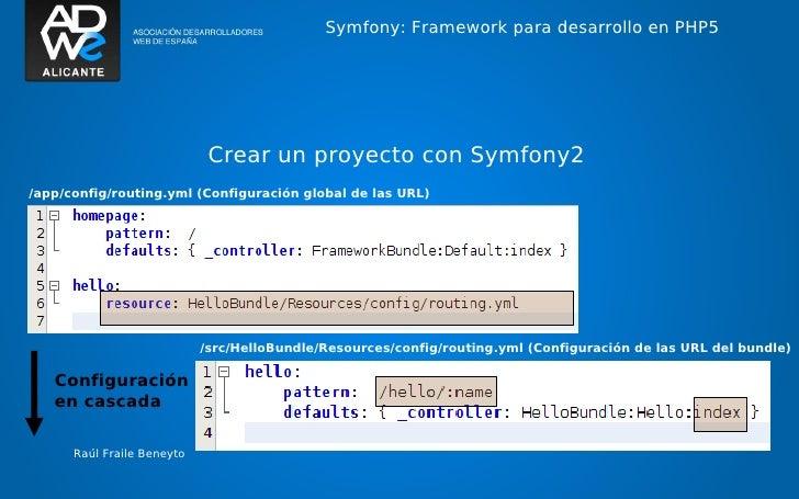 Symfony: Framework para desarrollo en PHP5                             Crear un proyecto con Symfony2/app/config/routing.y...