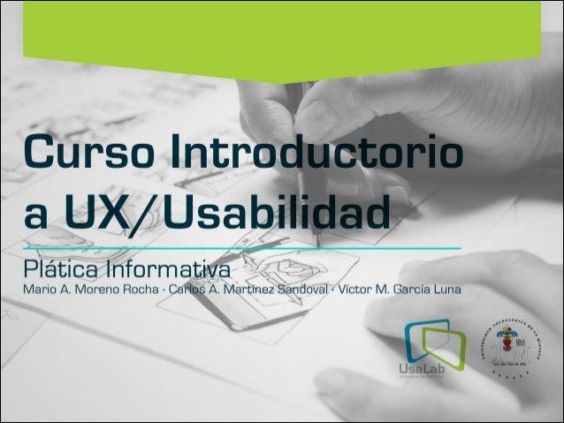 Presentacion Taller Usabilidad / UX